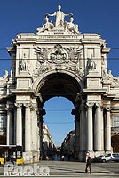 Photo : Arc de triomphe, Praça do Comércio, Quartier de Baixa, Lisboa, Portugal
