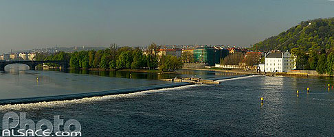 Photo : La Vltava, Staré Mesto, Prague, République tchèque
