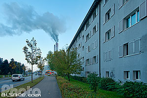 Photo : Immeuble de logements, Flughafenstrasse, St. Johann, Bâle, Basel-Stadt, Suisse