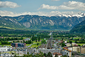 Photo : Sargans et la vallée du Rhin Alpin, St. Gallen, Suisse