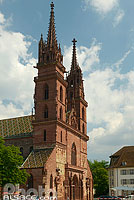 Photo : Basler Münster, Bâle, Basel-Stadt, Suisse