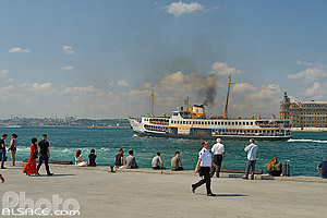 Terminal ferry de Kadiköy (Kadiköy Iskelesi) sur la rive asiatique d'Istanbul, Kadiköy, Istanbul, Turquie, Marmara Bölgesi, Turquie