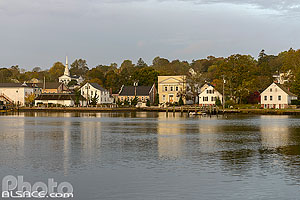 Photo : Mystic River, Mystic, Stonington, Connecticut, Etats-Unis