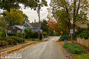 Photo : Rue de Mystic en automne, Stonington, Connecticut, Etats-Unis