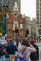 Photo : Old State House (plus ancien bâtiment public de la ville), Boston, Massachusetts, Etats-Unis
