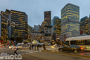 Centre-ville de Boston la nuit, Boston, Massachusetts, Etats-Unis