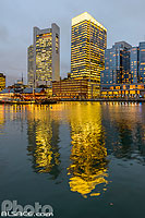 Photo : Boston Waterfront la nuit, Boston, Massachusetts, Etats-Unis