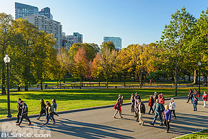 Boston Common en automne, Boston, Massachusetts, Etats-Unis