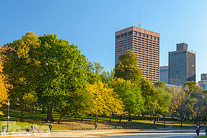 Photo : Boston Common en automne, Boston, Massachusetts, Etats-Unis, Massachusetts, Etats-Unis