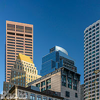 Immeubles du centre ville de Boston, Atlantic Avenue, Boston, Massachusetts, Etats-Unis
