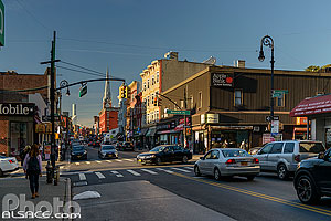 Photo : Quartier de Greenpoint et Manhattan avenue, Brooklyn, New York, Etats-Unis