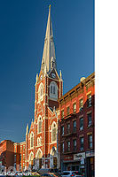 Photo : Saint Anthony of Padua Church sur Manhattan avenue, Quartier de Greenpoint, Brooklyn, New York, Etats-Unis