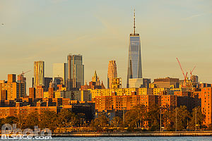 Photo : One World Trade Center et Manhattan vue depuis Williamsburg, Brooklyn, New York, Etats-Unis
