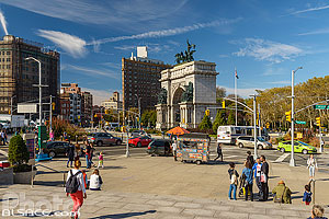 Grand Army Plaza et Soldiers and Sailors Memorial Arch, Park Slope, Brooklyn, New York, Etats-Unis