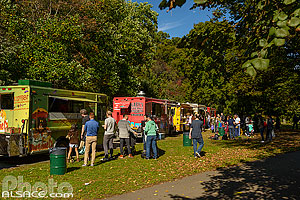 Photo : Food truck dans Prospect Parc, Brooklyn, New York, Etats-Unis