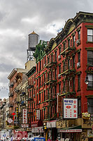 Photo : Mott Street dans le quartier chinois de Chinatown, Manhattan, New York, Etats-Unis