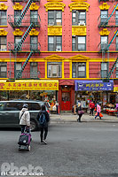 Photo : Commerces dans Chinatown, Mott Street, Manhattan, New York, Etats-Unis