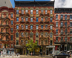 Photo : Façades d'immeubles New Yorkais, Essex Street, Manhattan, New York, Etats-Unis