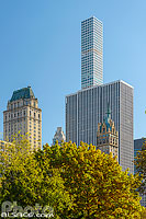 Photo : General Motors Building et 432 Park Avenue vue depuis Central Park, , Manhattan, New York, Etats-Unis