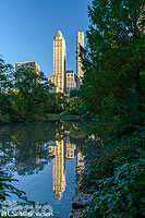 Photo : The Pond, Central Park, Manhattan, New-York, Etats-Unis, New York, Etats-Unis