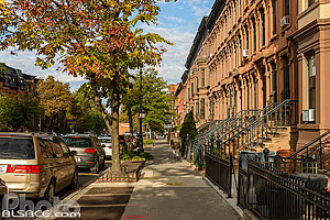 Photo : Rue de Brooklyn Heights, Brooklyn, New York, Etats-Unis