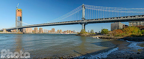 Manhattan Bridge au-dessus de East River, Brooklyn, New York, Etats-Unis