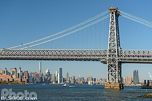 Williamsburg Bridge et East River, Brooklyn, New York, Etats-Unis