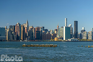Photo : Manhattan vue depuis East River, Brooklyn, New York, Etats-Unis, New York, Etats-Unis