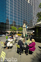 Entrée de Bryant Park angle de la 42nd Street et 6th Avenue, West Midtown, Manhattan, New-York, Etats-Unis
