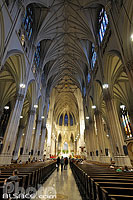Photo : Saint Patrick's Cathedral, 5th Avenue, East Midtown, Manhattan, New-York, Etats-Unis