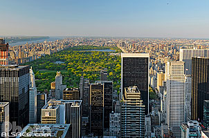 Central Park depuis Top of the Rock, Manhattan, New-York, Etats-Unis, New York, Etats-Unis