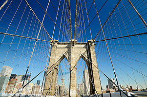 Photo : Brooklyn Bridge, Manhattan, New-York, Etats-Unis, New York, Etats-Unis