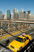 Photo : Brooklyn Bridge, Manhattan, New-York, Etats-Unis