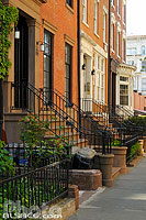 Photo : Entrée d'immeuble, Clinton Street, Brooklyn, New York, Etats-Unis