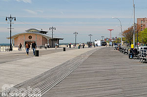 Photo : Brighton Beach Boardwalk, Coney Island, Brooklyn, New York, Etats-Unis, New York, Etats-Unis