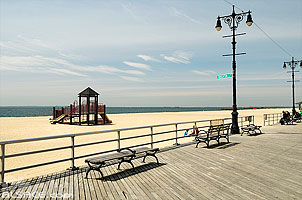 Brighton Beach Boardwalk, Coney Island, Brooklyn, New York, Etats-Unis, New York, Etats-Unis