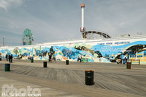 Photo : New York Aquarium, Brighton Beach, Coney Island, Brooklyn, New York, Etats-Unis
