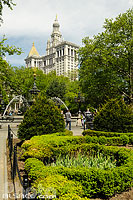Photo : City Hall Park, Lower Manhattan, Manhattan, New York, Etats-Unis, New York, Etats-Unis
