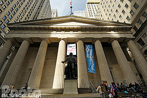 Photo : Federal Hall National Monument, Wall Street, Manhattan, New York, Etats-Unis