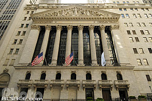 Photo : New York Stock Exchange, Wall Street, Lower Manhattan, Manhattan, New York, Etats-Unis