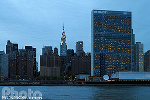 Photo : United Nations Headquarters (ONU), East Midtown, Manhattan, New York, Etats-Unis