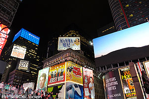 Photo : Times Square la nuit, Broadway, West Midtown, Manhattan, New-York, Etats-Unis