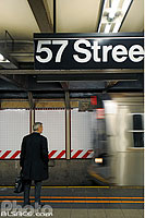 Station de métro 57 Street, West Midtown, Manhattan, New York, Etats-Unis