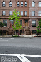 Photo : Immeuble de Harlem, 120th Street, Manhattan, New York, Etats-Unis