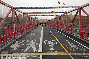 Photo : Williamsburg Bridge, Lower East Side, Manhattan, New York, Etats-Unis