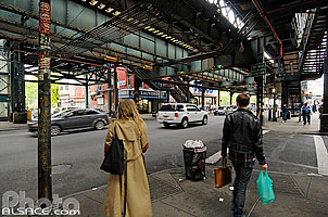 Photo : Station de métro aérien Marcy Avenue, Williamsburg, Brooklyn, New York, Etats-Unis