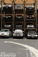 Parking en hauteur, Worth Street, Tribeca, Manhattan, New York, Etats-Unis