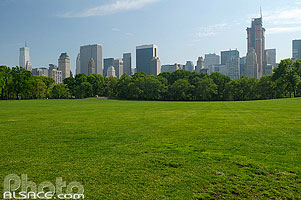 Photo : Sheep Meadow, Central Park, Manhattan, New York, Etats-Unis