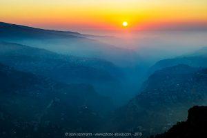 La Vallée de la Qadisha classée au patrimoine mondial de l'UNESCO, Liban, Septembre 2019