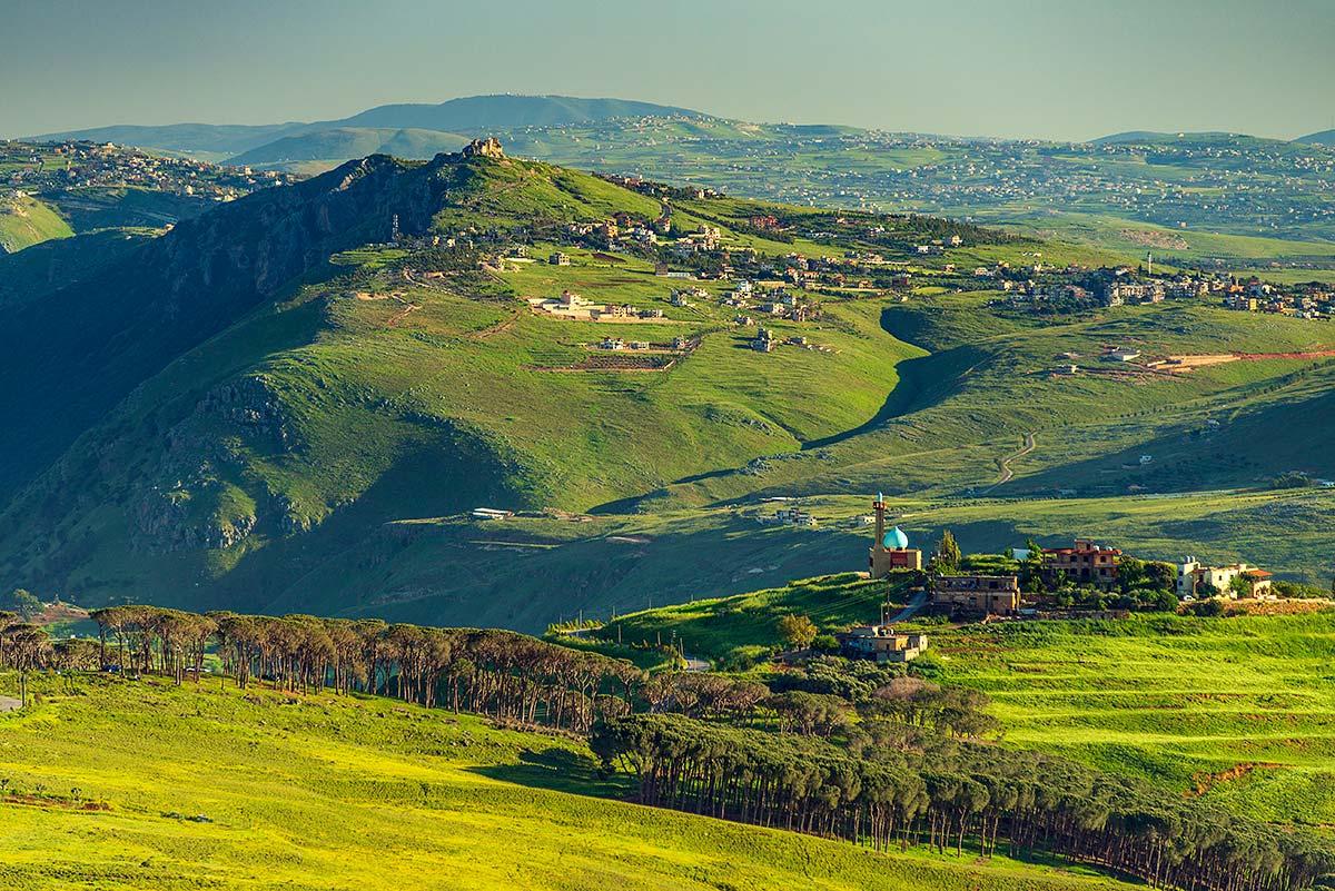 Paysage au printemps du Liban-Sud et de Nabatieh